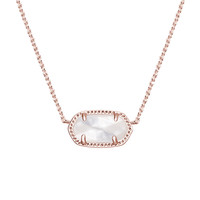 Elisa Rose Gold Pendant Necklace- Ivory Pearl | Kendra Scott