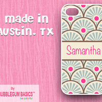 PERSONALIZED iPhone Case iPhone 4 4S iPhone 5 Phone Case - Asian Inspired Scales Name Band - Monogrammed Custom