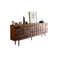 Amenity 106.2'' Walnut Keyboard Cabinet