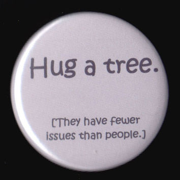Treehugger Button by kohaku16 on Etsy