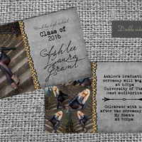 Graduation announcement college or high school (you print and choice of colors) CLASS OF 2013