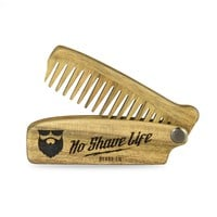 OG Logo Walnut Folding Beard Comb