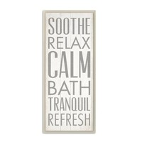 'Soothe Relax Calm Bath' Textual Art on Wood