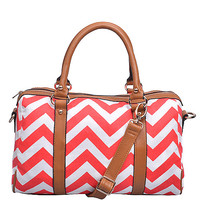 Red Chevron Bag