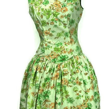 Rockabilly 1950's Mod-O-Day of California, Sunflower Cotton Dress