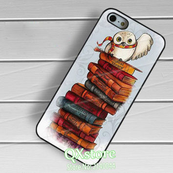 Harry potter and Hedwig books with owl phone cover case for Samsung galaxy S3 S4 S5 S6 S7 S6 edge S7 edge Note 3 Note 4 Note 5