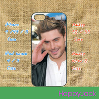 Zac Efron - iPhone 4 case , iphone 5 case , ipod touch case, ipod case, samsung galaxy S3 / S2 case , galaxy note 2 case