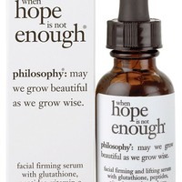 philosophy 'when hope is not enough' serum