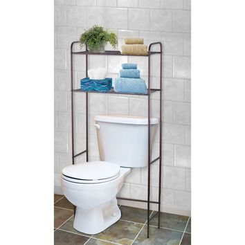 Bronze 2-Shelf Bathroom Space Saver