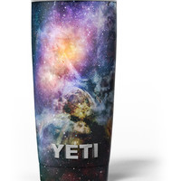 Rust and Bright Neon Colored Stary Sky Yeti Rambler Skin Kit