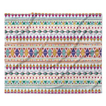 "Nika Martinez ""Native Fiesta"" Fleece Throw Blanket"