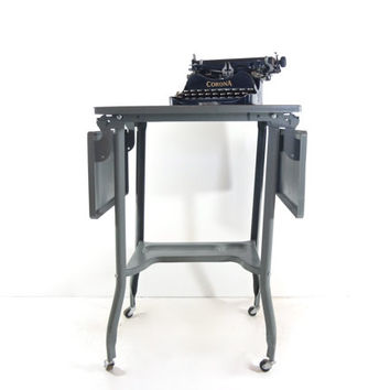 Vintage Industrial Typewriter Table