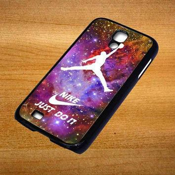 nike logo air jordan For Samsung Galaxy S4 Case *76*