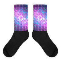 Opening a Shiny Purple Button || Black foot socks — Future Life Fashion