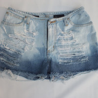 Ombred Distressed NO BOUNDARIES Denim shorts (Size 7)