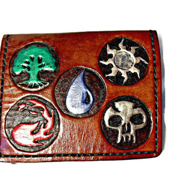 Magic the Gathering,Leather Wallet,MTG,Geek Gift,Nerd Gift,Card Game,Boyfriend Gift,Girlfriend Gift,Holds 8 Credit Cards,1 Bill Compartment