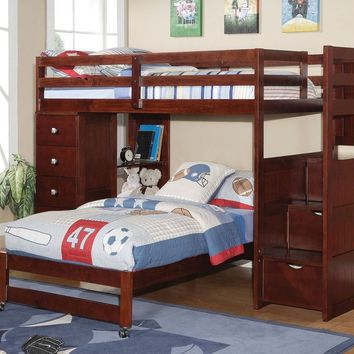 Jacob Bunk Bed with Stairs and Dresser