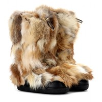 chloé - fox fur boots