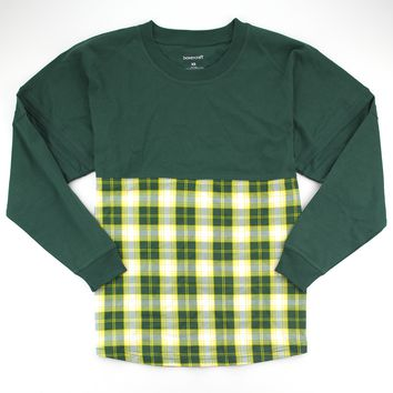 Forest and Gold Plaid Pom Pom Jersey