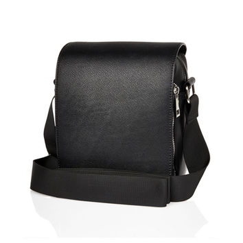 Black Vegan Leather Cross Body Bag
