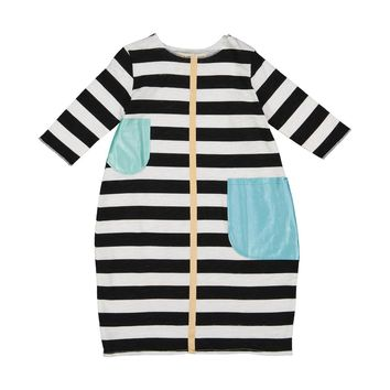 Teela Girls' Bubble Stripe Dress