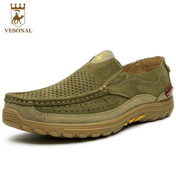VESONAL Hot Sale 2017 Genuine Leather Brand Casual Men Loafers Shoes Male Footwear Ons Moccasins Man Quality Walking Boat Driver