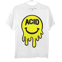 Mr. Acid Face T-Shirt | Black and Yellow on White | Killer Condo Apparel