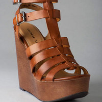 CHINESE LAUNDRY SHOES, JUMP DRIVE GLADIATOR WEDGE