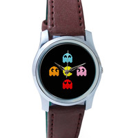 Pixel Art Pac man Inspired Characters Wrist Watch