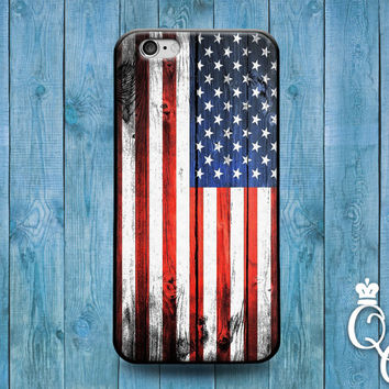 iPhone 4 4s 5 5s 5c 6 6s plus iPod Touch 4th 5th 6th Generation Red White Blue Stripes America USA United States Flag Phone Cover Cute Case