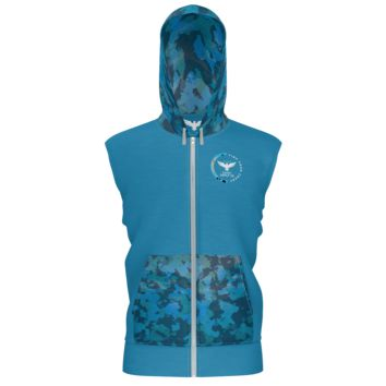 Men's Find Your Coast Supply Co. Ocean Camo French Terry Lightweight Sleeveless Hoodie