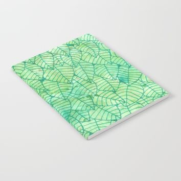 Green foliage Notebook by Savousepate