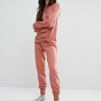ASOS TALL LOUNGE Knot Detail Sweat and Jogger at asos.com
