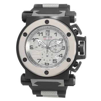 Invicta 14516 Men's Jason Taylor Chronograph Titanium Dial Black Rubber Strap Watch