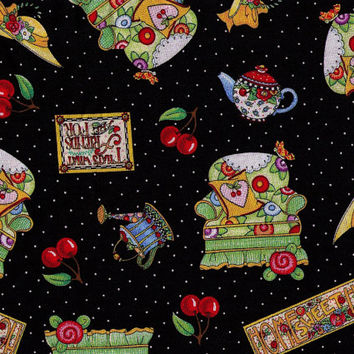 Mary Engelbreit Fabric - Home Sweet Home - Cotton Fabric - By the Yard - Quilting Fabric - Thats What Friends Are For