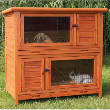 Trixie's 2-in-1 Rabbit Hutch w/Insulated Walls - Small Pet - Boutique - PetSmart