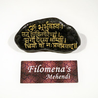 Gayatri Mantra, Yoga stone, Sanskrit Mantra, Stoner gifts, Yoga mantra, Good vibrations, Yogi, Modern yogi, Stocking stuffer, Calming stone