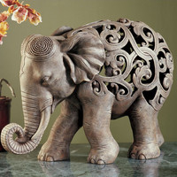 Design Toscano Anjan the Elephant Jali Figurine & Reviews | Wayfair