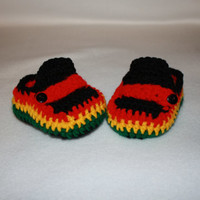 Rasta rastafarian Infant Moccosins Baby Shower gift- Photo Prop