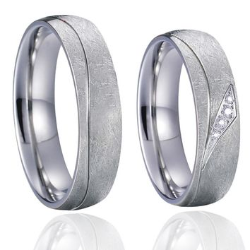 men's wedding band couple rings set anillos anel bague titanium bridal jewelry love women's promise engagement ring