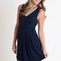 Night Out Navy Dress