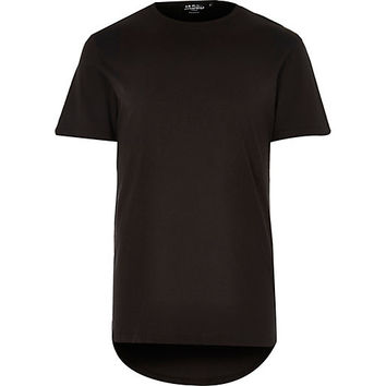 River Island MensBlack Jaded back printed t-shirt