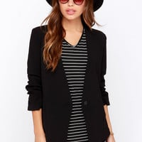 Office Politics Black Blazer