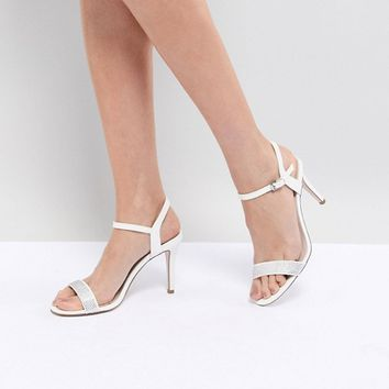 Coast Strappy Glitter Heel Shoes at asos.com