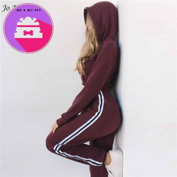 2018 New Autumn Women 2 piece clothing set casual fashion crop top and long pants ladies sexy tracksuit hoodie suit