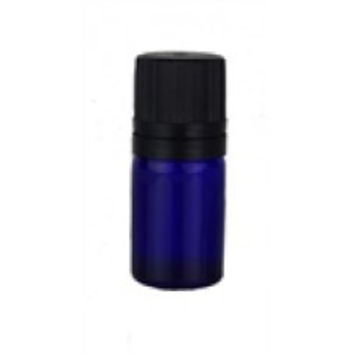 5 ml Cobalt Blue Glass Dropper Bottle with orifice reducer and custom locking lid