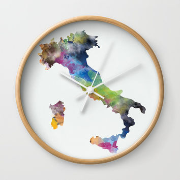 Italy Wall Clock by monnprint