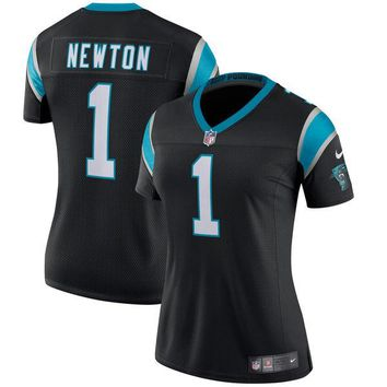 Women's Carolina Panthers Cam Newton Nike Black Classic Limited Player Jersey