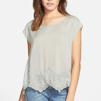 Junior Women's Sun & Shadow Lace Top,