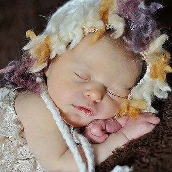 Baby Hat Crochet Baby Hat Newborn Hat Baby Bonnet by Monarchdancer